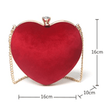 Load image into Gallery viewer, Heart-shaped chain bag - monaveli - bag - Heart-shaped chain bag - mymonaveli.com