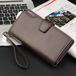 Load image into Gallery viewer, Men's Faux Leather Long Wallet - monaveli - Wallets - Men's Faux Leather Long Wallet - mymonaveli.com