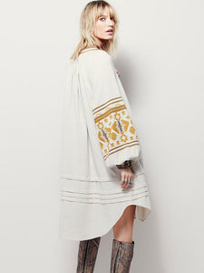 bohemian O-neck cotton dress - monaveli - Women's Clothing - bohemian O-neck cotton dress - mymonaveli.com