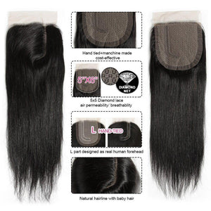 Remy Hair 5*6 Lace Closure L Deep