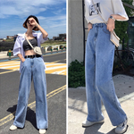 Load image into Gallery viewer, High-waisted wide-leg pants - monaveli - Women's Clothing - High-waisted wide-leg pants - mymonaveli.com
