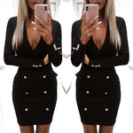 Load image into Gallery viewer, Women V Neck Bodycon Pencil Party Dress