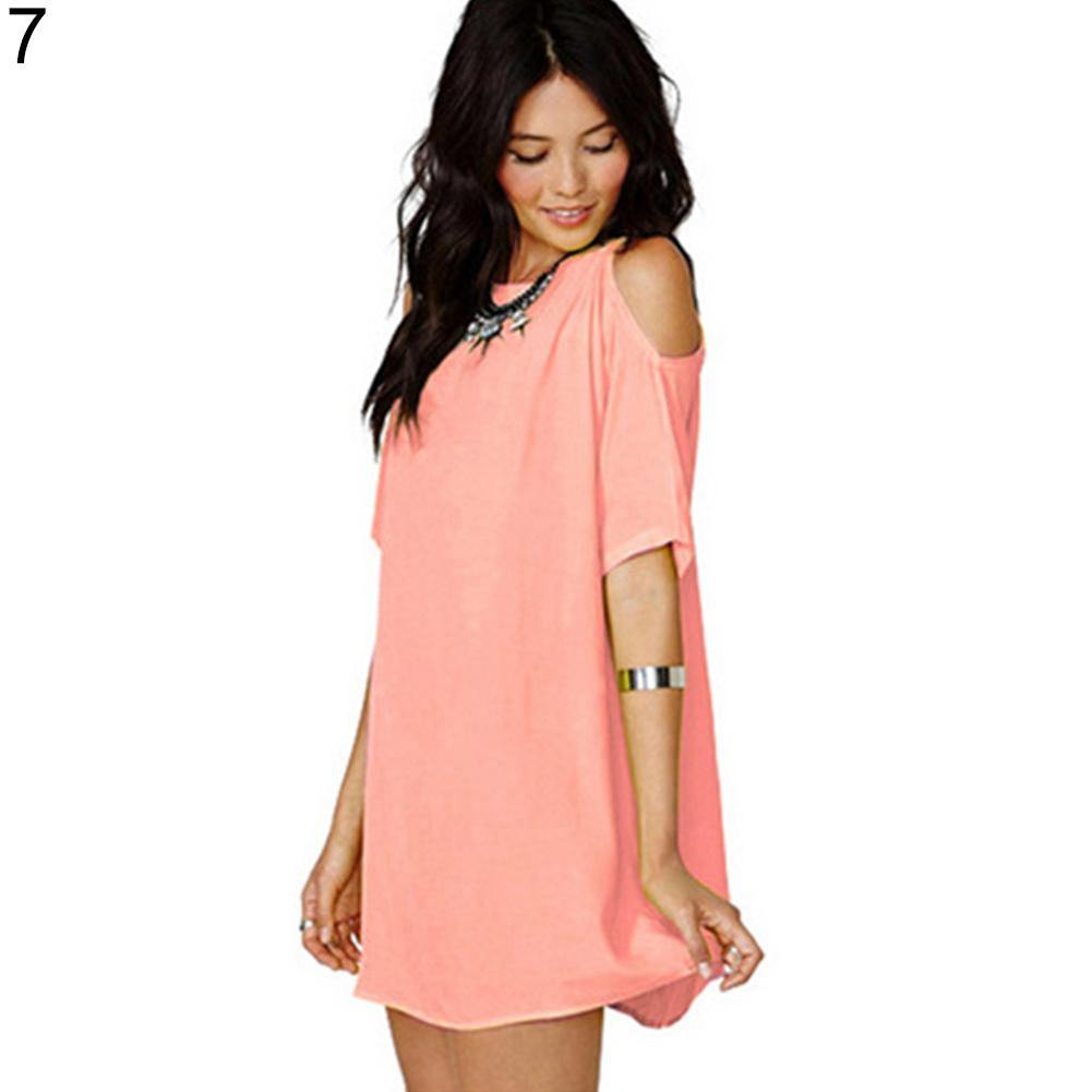 Sexy Off Shoulder Chiffon Mini Dress