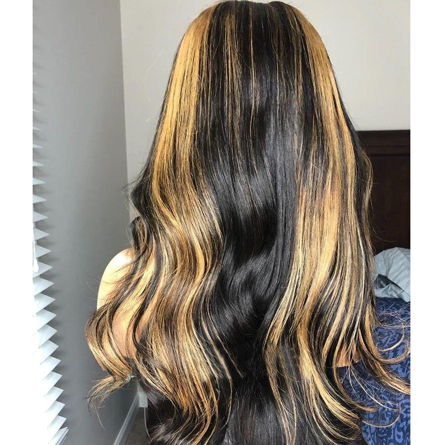 Highlight Colored Brazilian Natural Wave Lace Front Hair