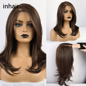 Synthetic Lace Front Long Wig