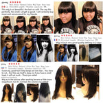 Load image into Gallery viewer, Straight Human Hair With Bang Fringe - monaveli -  - Straight Human Hair With Bang Fringe - mymonaveli.com