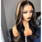 Load image into Gallery viewer, Highlight Colored Brazilian Natural Wave Lace Front Hair