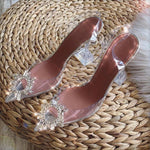 Load image into Gallery viewer, Transparent Designer Heel Sandals - monaveli -  - eprolo Transparent Designer Heel Sandals - mymonaveli.com