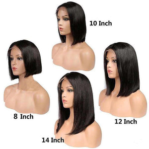 Brazilian Straight 13x4 Short Lace Front Human Hair