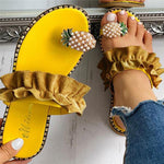 Load image into Gallery viewer, Pineapple Pearl Women's Slippers - monaveli -  - Pineapple Pearl Women's Slippers - mymonaveli.com