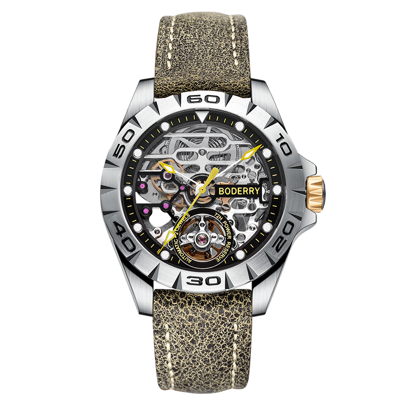 Automatic Mechanical  Stainless Steel Watch - monaveli -  - Automatic Mechanical  Stainless Steel Watch - mymonaveli.com
