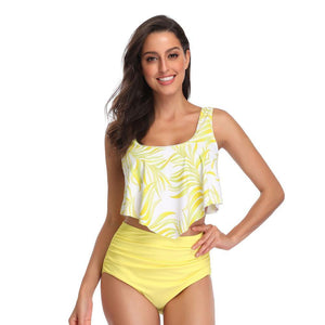 Two Piece High Waist Swimsuit - monaveli -  - Two Piece High Waist Swimsuit - mymonaveli.com