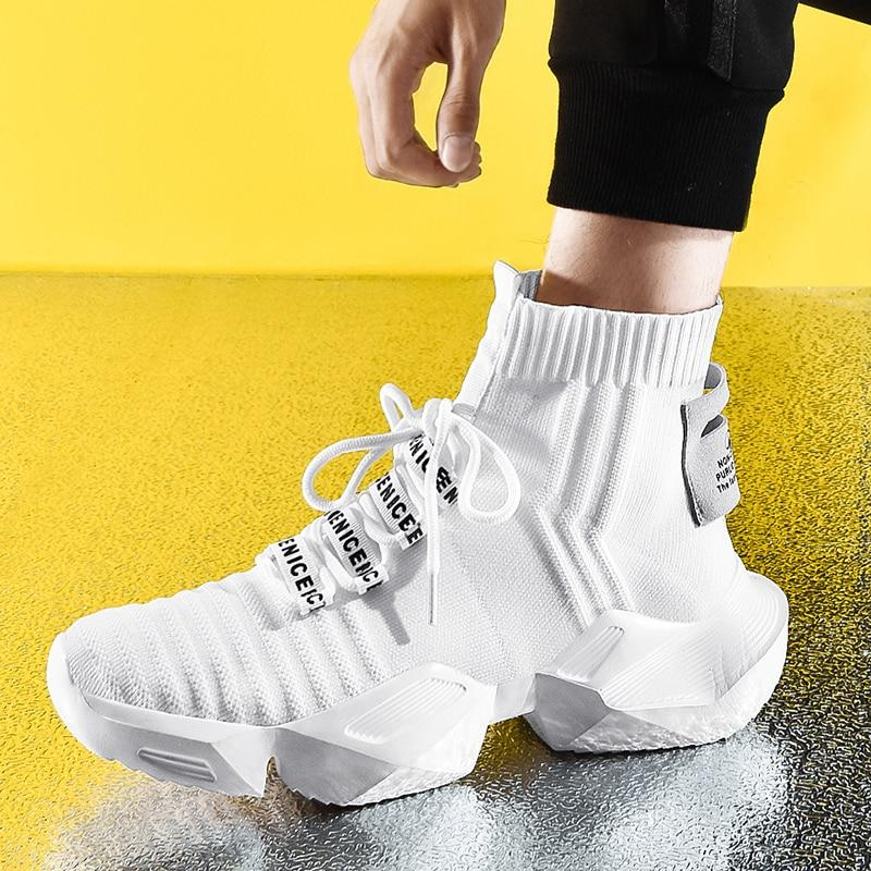 High Top Fashion Men's Sock Sneakers - monaveli -  - High Top Fashion Men's Sock Sneakers - mymonaveli.com