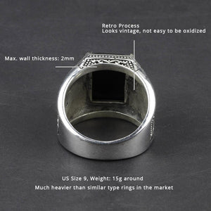 Pure 925 Sterling Silver Men's Rings - monaveli -  - Pure 925 Sterling Silver Men's Rings - mymonaveli.com