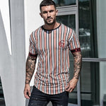 Load image into Gallery viewer, Casual Men's Stripe T-shirt - monaveli -  - Casual Men's Stripe T-shirt - mymonaveli.com
