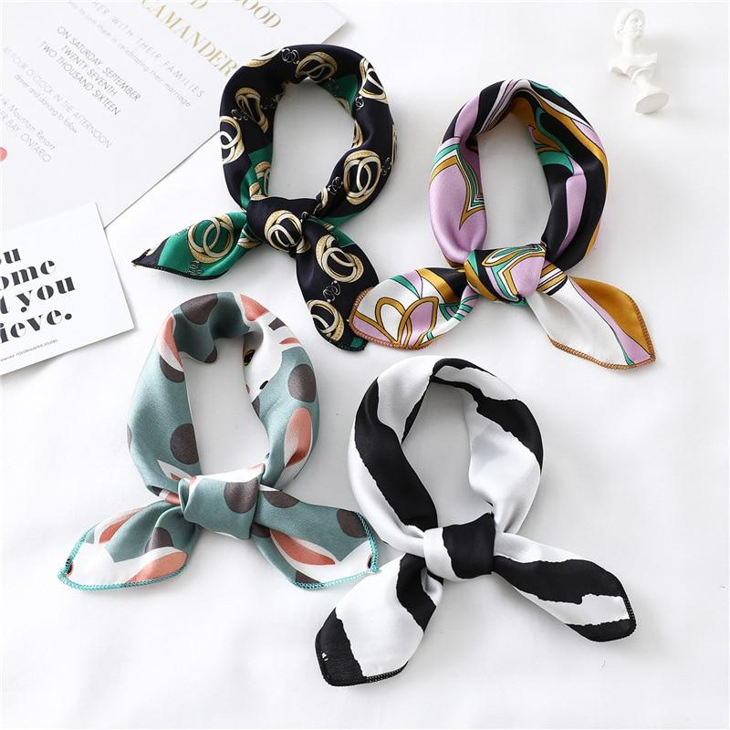 Women Square Silk Scarf - monaveli -  - Women Square Silk Scarf - mymonaveli.com