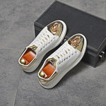 Load image into Gallery viewer, Men's White Casual Shoes - monaveli -  - Men's White Casual Shoes - mymonaveli.com