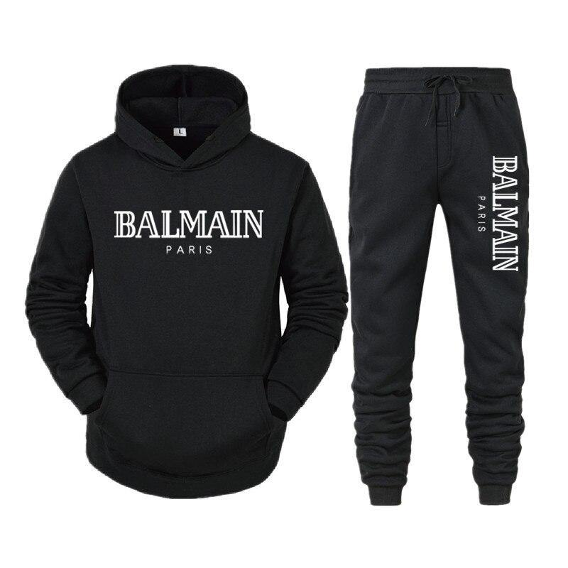 Balmain Paris Hooded Streetwear Sweatsuit