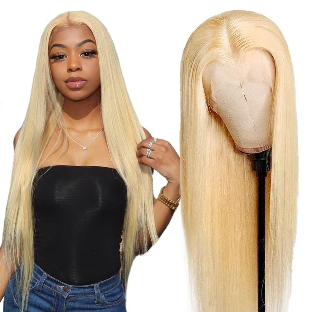Blonde Lace Front Bone Straight Human Hair Wig - monaveli -  - Blonde Lace Front Bone Straight Human Hair Wig - mymonaveli.com