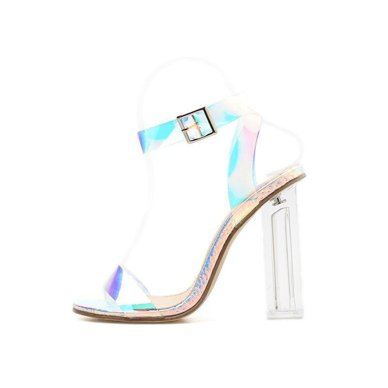 Clear Transparent Buckle Sandals - monaveli -  - Clear Transparent Buckle Sandals - mymonaveli.com
