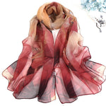 Load image into Gallery viewer, Women Floral Printing Beach Silk Scarf - monaveli -  - Women Floral Printing Beach Silk Scarf - mymonaveli.com