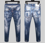 Load image into Gallery viewer, Men's Straight Denim Jeans - monaveli -  - Men's Straight Denim Jeans - mymonaveli.com