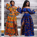 Load image into Gallery viewer, Full Sleeve Shoulder Off Dashiki Print - monaveli -  - Full Sleeve Shoulder Off Dashiki Print - mymonaveli.com