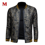 Load image into Gallery viewer, Men's Golden print Jacket - monaveli -  - Men's Golden print Jacket - mymonaveli.com