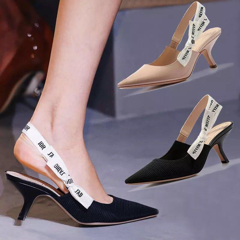 Butterfly Knot Belt Slingbacks 5.5cm High Heels - monaveli -  - Butterfly Knot Belt Slingbacks 5.5cm High Heels - mymonaveli.com