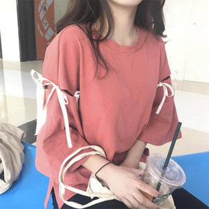 Half Sleeve Hollow T-Shirt Casual Top