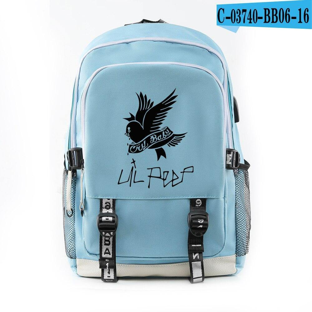 Lil Peep Travel Teenage Backpack - monaveli -  - Lil Peep Travel Teenage Backpack - mymonaveli.com