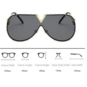 Men's Fashion Oversized Sunglass - monaveli -  - Men's Fashion Oversized Sunglass - mymonaveli.com