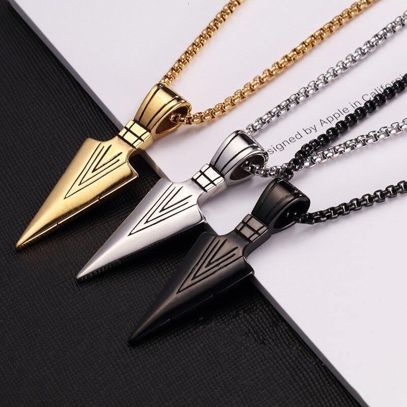 Arrow Triangle Pendant Necklace Jewelry - monaveli -  - Arrow Triangle Pendant Necklace Jewelry - mymonaveli.com