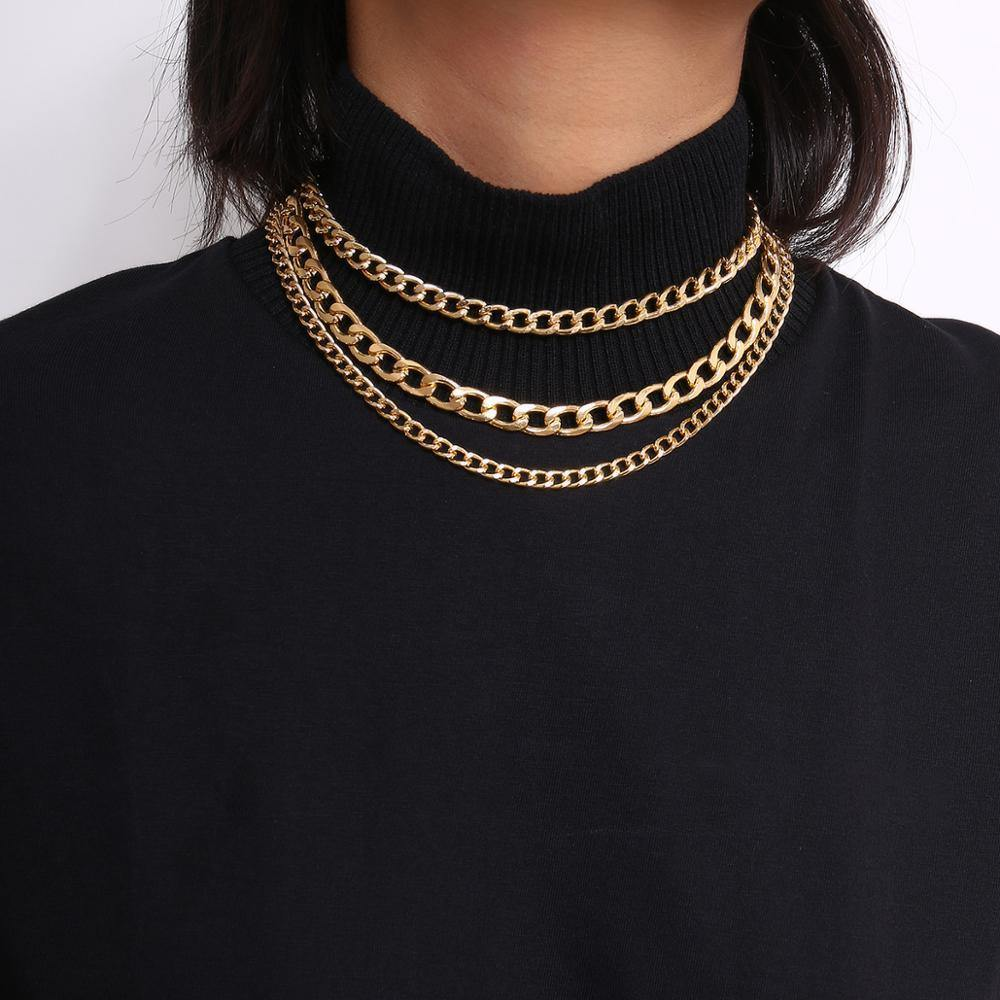 Punk Metal Thick Chain Choker Necklace - monaveli -  - Punk Metal Thick Chain Choker Necklace - mymonaveli.com