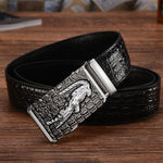 Load image into Gallery viewer, Men High Quality Genuine Leather belts luxury Brand Silver Gold Ceinture mens crocodile belts designer cinturones para hombre -  - monaveli - monaveli