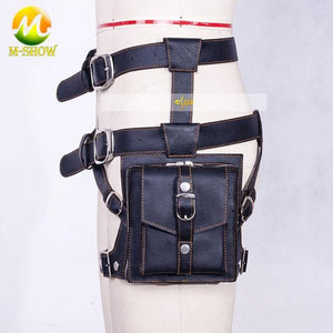 PUBG cosplay Leg bag pockets leather PU Playerunknown's Battlegrounds Props Waist Bag PU Chicken Dinner -  - monaveli - monaveli