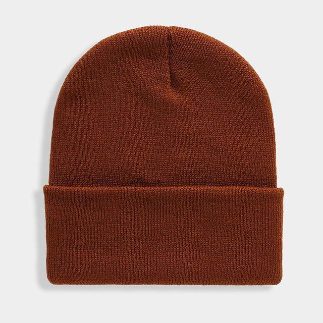 Solid Unisex Beanie Autumn Winter Wool Blends Soft Warm Knitted Cap Men Women SkullCap Hats Gorro Ski Caps 24 Colors Beanies -  - monaveli - monaveli
