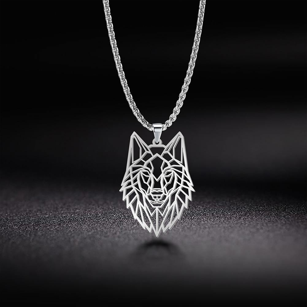 Wolf Animal Hollow Cutout Jewelry Necklace - monaveli -  - Wolf Animal Hollow Cutout Jewelry Necklace - mymonaveli.com