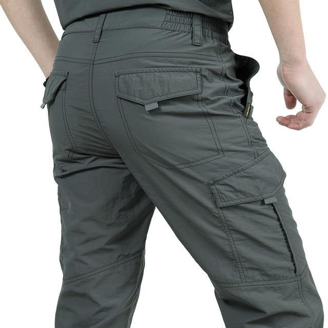Men's Lightweight Tactical Pants Breathable Summer Casual Army Military Long Trousers Male Waterproof Quick Dry Cargo Pants -  - monaveli - monaveli
