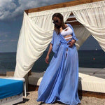 Load image into Gallery viewer, 2019 Summer Women Swimsuit Bikini Cover Up Sexy Beach Cover Ups Chiffon Long Dress Elegant Solid Beach Bathing Suit tunic kaftan -  - monaveli - monaveli