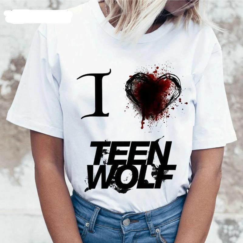 Teen Wolf Harajuku T-Shirt for Women - monaveli -  - Teen Wolf Harajuku T-Shirt for Women - mymonaveli.com