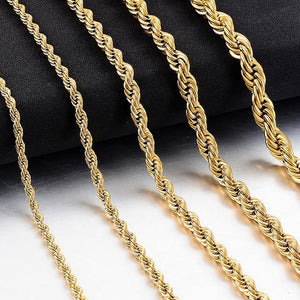 Hip-Hop Stainless Steel Rope Chain Jewelry