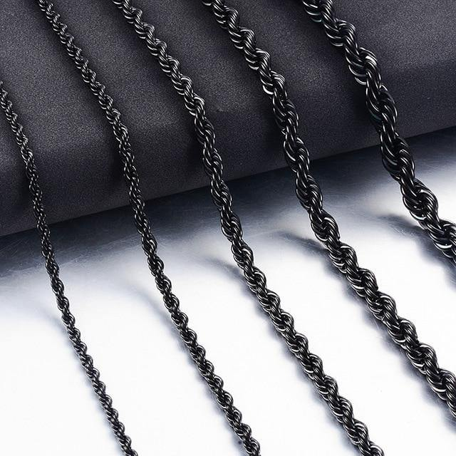 Hip-Hop Stainless Steel Rope Chain Jewelry - monaveli -  - Hip-Hop Stainless Steel Rope Chain Jewelry - mymonaveli.com