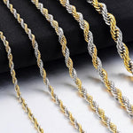 Load image into Gallery viewer, Hip-Hop Stainless Steel Rope Chain Jewelry