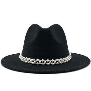 Fedora Jazz Hat With Pearl Ribbon