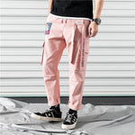 Load image into Gallery viewer, Men Cargo Pants Black Ribbons Block Multi-Pocket 2020 Harem Joggers Harajuku Sweatpant Hip Hop Casual Male Trousers -  - monaveli - monaveli