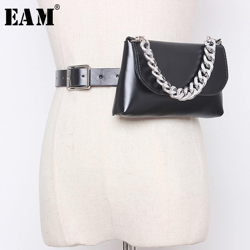 [EAM]  Pu Leather Chain Split Mini-bag Long Wide Belt Personality Women New Fashion Tide All-match Spring Autumn 2020 19A-a354 -  - monaveli - monaveli
