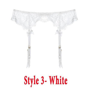 Sexy women lace Black/white/red brand garter temptation ultra-thin female silk stockings Suspender Belt Wedding garters belts -  - monaveli - monaveli