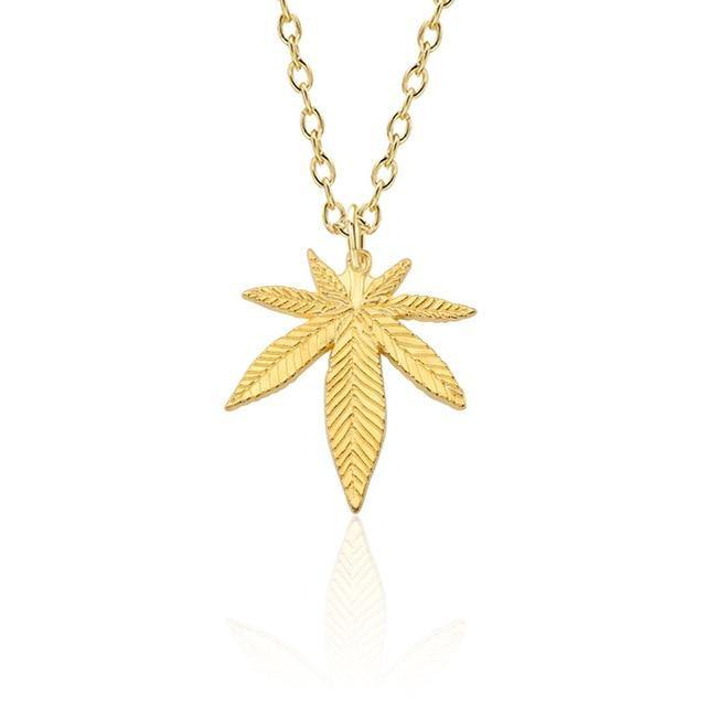 Maple Leaf Hemp Weed Necklace Jewelry