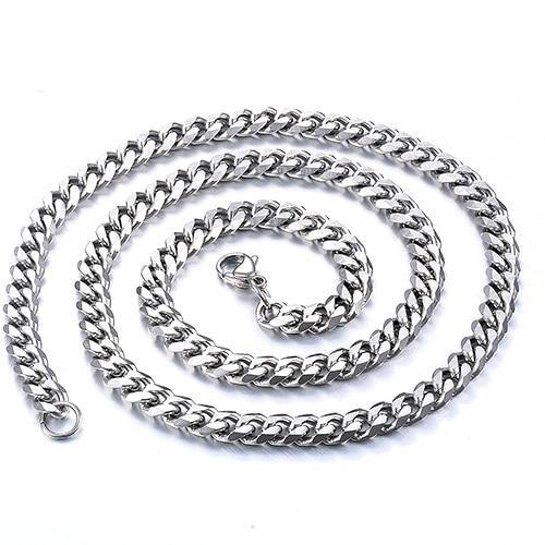 Stainless Steel Cuban Chain Waterproof Necklace